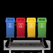 Coletor Reciclável com Tampa Vazada